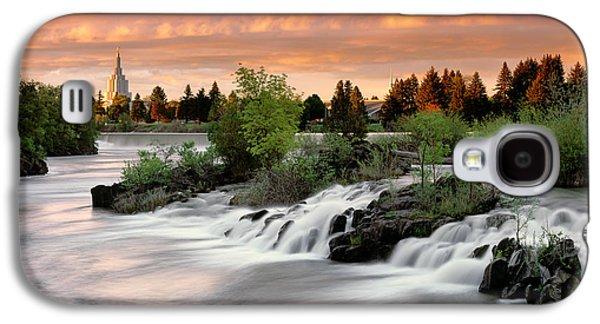 Idaho Photographs Galaxy S4 Cases - Idaho Falls Galaxy S4 Case by Leland D Howard