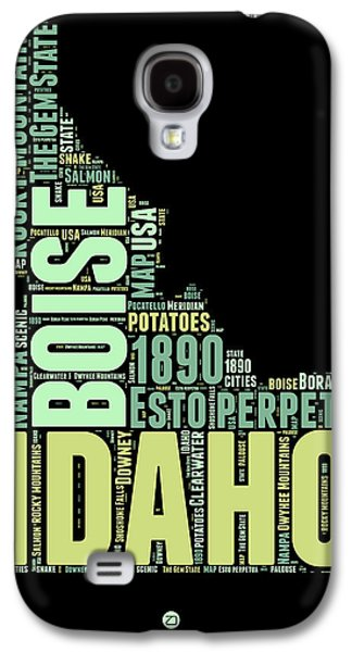 4th July Mixed Media Galaxy S4 Cases - Idaho Word Cloud 1 Galaxy S4 Case by Naxart Studio