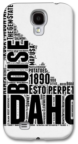 4th July Mixed Media Galaxy S4 Cases - Idaho Word Cloud 2 Galaxy S4 Case by Naxart Studio