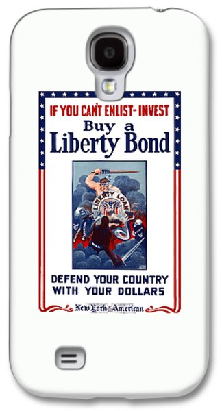 Liberty Galaxy S4 Cases - If You Cant Enlist Invest Galaxy S4 Case by War Is Hell Store