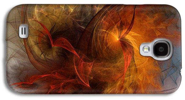 Contemplative Digital Galaxy S4 Cases - Ikarus Galaxy S4 Case by Karin Kuhlmann