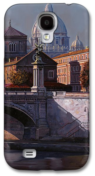 City Scenes Paintings Galaxy S4 Cases - Il Cupolone Galaxy S4 Case by Guido Borelli