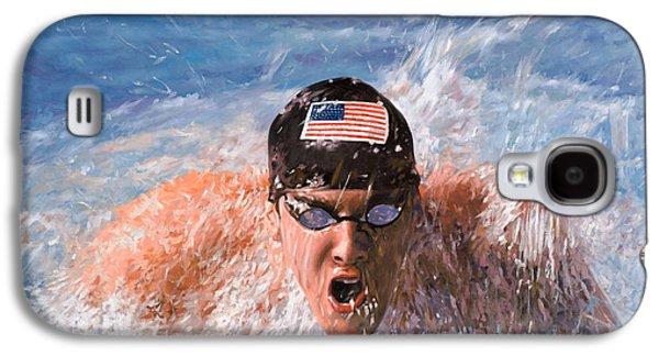 Olympics Galaxy S4 Cases - Il Nuotatore Galaxy S4 Case by Guido Borelli