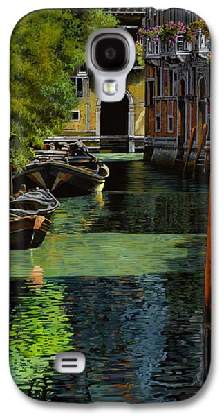 History Paintings Galaxy S4 Cases - il palo rosso a Venezia Galaxy S4 Case by Guido Borelli