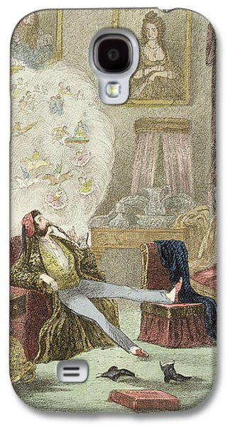 Lounge Drawings Galaxy S4 Cases - Illustration from Visitation of a London Exquisite to his Maiden Aunts in the Country Galaxy S4 Case by Theo