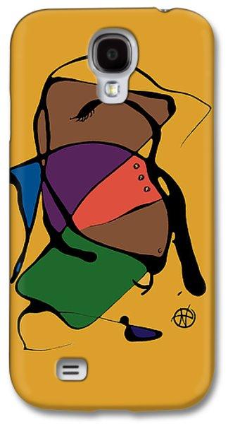 Abstract Digital Paintings Galaxy S4 Cases - Im bringin it Galaxy S4 Case by Nancy Carlton