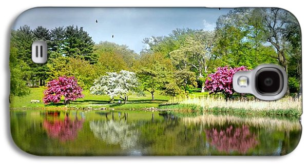 Pond In Park Galaxy S4 Cases - Im Home Now Galaxy S4 Case by Diana Angstadt