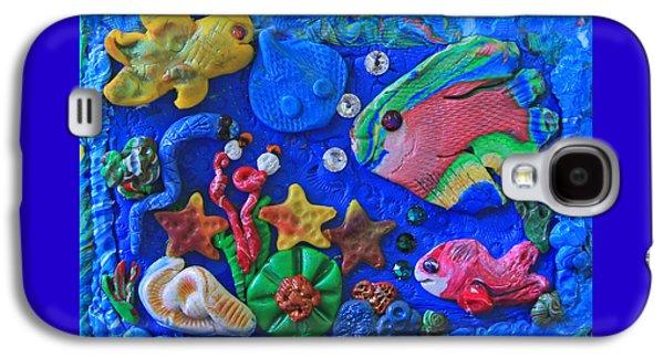 Plankton Mixed Media Galaxy S4 Cases - Imaginary Clay Sea World Galaxy S4 Case by Donna Haggerty
