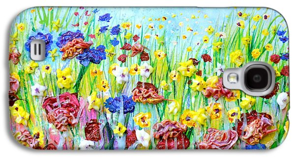Abstract Nature Reliefs Galaxy S4 Cases - Imagining a Meadow Galaxy S4 Case by Regina Valluzzi