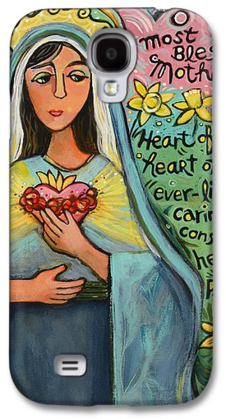 Immaculate Heart Of Mary Galaxy S4 Case by Jen Norton