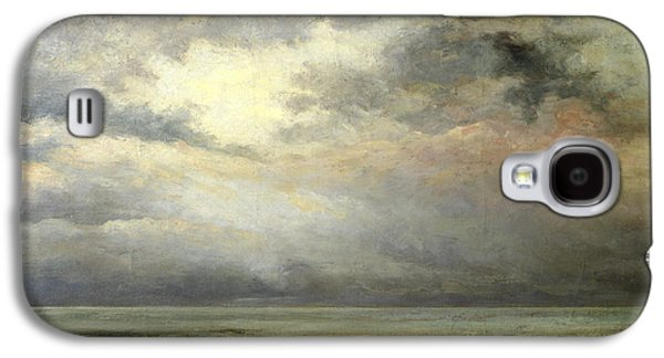 Thunder Paintings Galaxy S4 Cases - Immensity Galaxy S4 Case by Gustave Courbet
