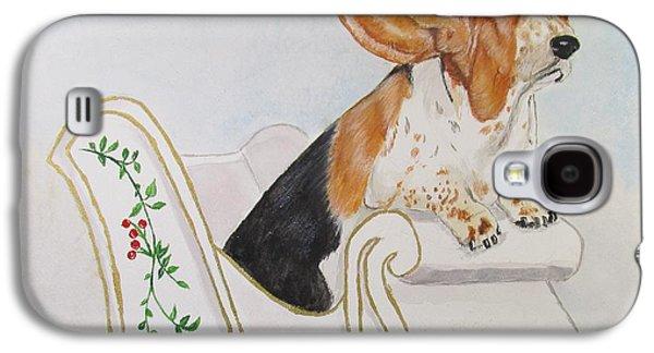 Puppies Galaxy S4 Cases - In a One Hound Open Sleigh Galaxy S4 Case by Carol Blackhurst