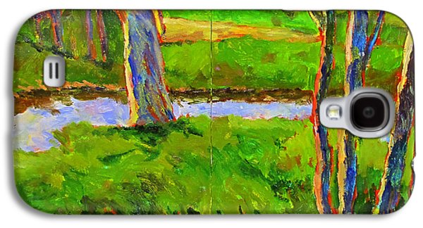 Early Spring Paintings Galaxy S4 Cases - In a Wood with a Creek Galaxy S4 Case by Charlie Spear