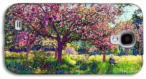 In Love With Spring, Blossom Trees Galaxy S4 Case by Jane Small