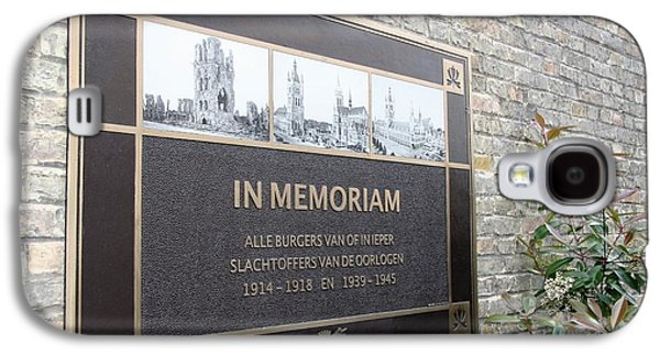 Galaxy S4 Case featuring the photograph In Memoriam - Ypres by Travel Pics