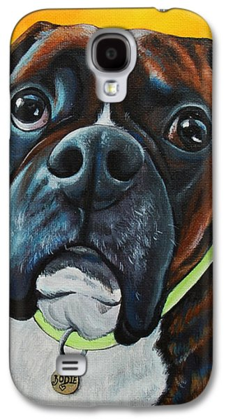 Boxer Galaxy S4 Cases - In Memory of Bodie The Boxer Galaxy S4 Case by Lauren Hammack