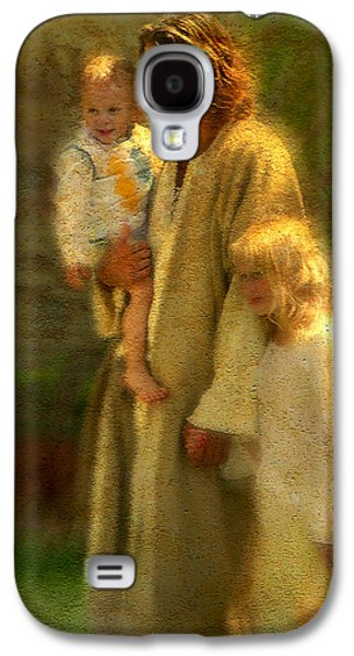 Jesus Art Galaxy S4 Cases - In the Arms of His Love Galaxy S4 Case by Greg Olsen
