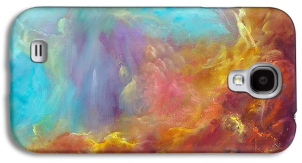 Constellations Paintings Galaxy S4 Cases - In the Beginning Galaxy S4 Case by Sally Seago