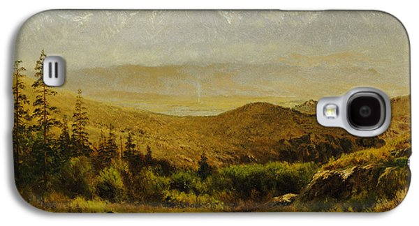 Snow Capped Galaxy S4 Cases - In the Foothills of the Rockies Galaxy S4 Case by Albert Bierstadt