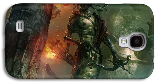 In The Lair Of The Gorgon Galaxy S4 Case by Ryan Barger