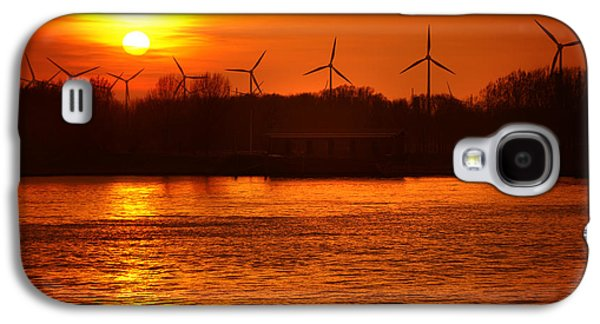 Reflections Of Sun In Water Galaxy S4 Cases - In the Land of Windmills Galaxy S4 Case by Jenny Rainbow