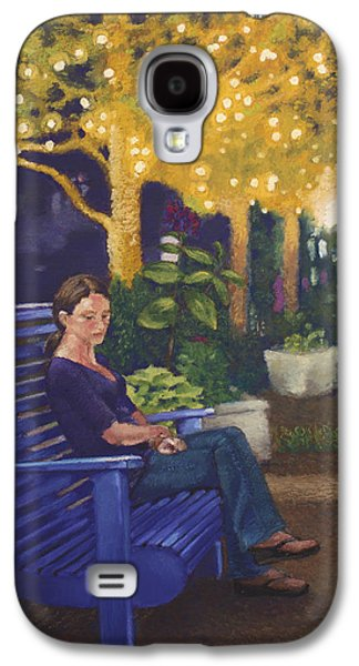 Park Scene Drawings Galaxy S4 Cases - In the Park Galaxy S4 Case by Kristy Alcala