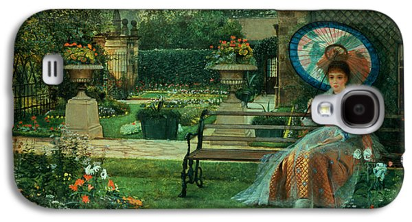 Sit-ins Galaxy S4 Cases - In the Plesaunce Galaxy S4 Case by John Atkinson Grimshaw