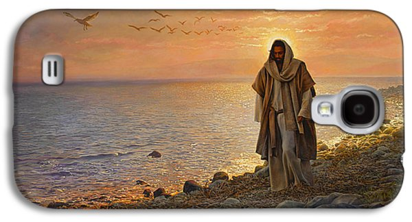 Jesus Art Galaxy S4 Cases - In the World Not of the World Galaxy S4 Case by Greg Olsen