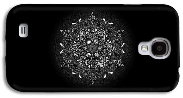 Black Drawings Galaxy S4 Cases - Inclusion Galaxy S4 Case by Matthew Ridgway