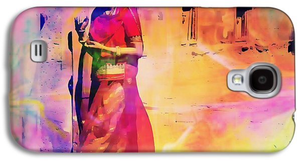 Abstracted Galaxy S4 Cases - Indian Beauty Rajasthan Exotic Travel Woman Mehrangarh Fort 1a Galaxy S4 Case by Sue Jacobi
