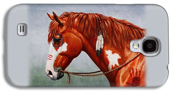Chestnut Horse Galaxy S4 Cases - Indian Pony War Horse iPhone Case Galaxy S4 Case by Crista Forest