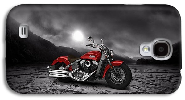 Mountain Valley Galaxy S4 Cases - Indian Scout 2015 Mountains 02 Galaxy S4 Case by Aged Pixel