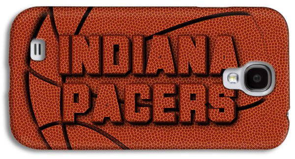 Indiana Pacers Leather Art Galaxy S4 Case by Joe Hamilton