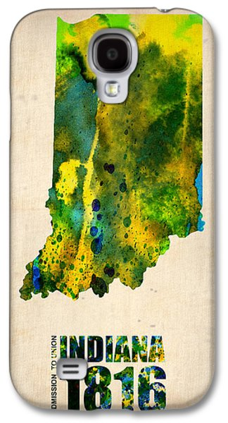 Indiana Watercolor Map Galaxy S4 Case by Naxart Studio