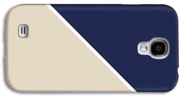 Geometric Shape Galaxy S4 Cases - Indigo and Sand Geometric Galaxy S4 Case by Linda Woods