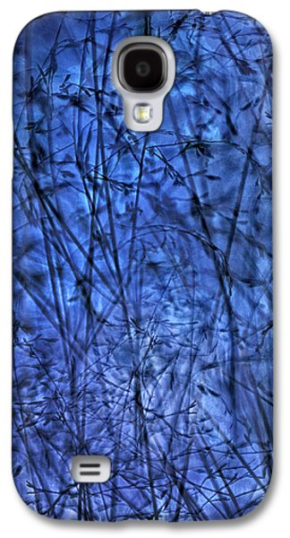 Abstract Landscape Galaxy S4 Cases - Indigo Plantscape Galaxy S4 Case by Sheryl Karas