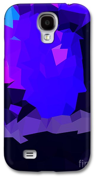 Colorful Abstract Galaxy S4 Cases - Indigo Poly Galaxy S4 Case by Anita Fugoso