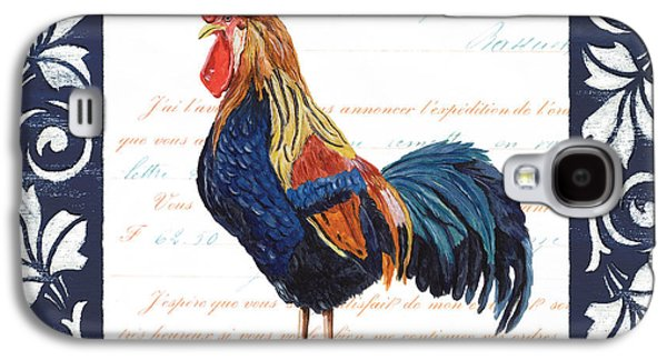 Chicks Galaxy S4 Cases - Indigo Rooster 2 Galaxy S4 Case by Debbie DeWitt