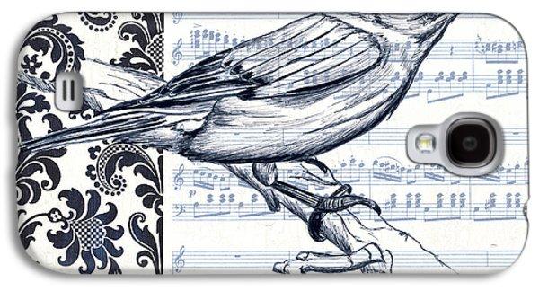 Singing Galaxy S4 Cases - Indigo Vintage Songbird 1 Galaxy S4 Case by Debbie DeWitt