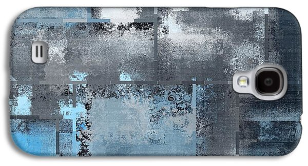 Blue Abstracts Digital Art Galaxy S4 Cases - Industrial Abstract - 10t Galaxy S4 Case by Variance Collections