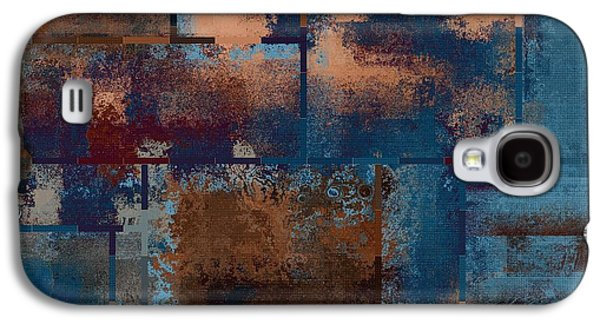 Blue Abstracts Digital Art Galaxy S4 Cases - Industrial Abstract - 15t03 Galaxy S4 Case by Variance Collections