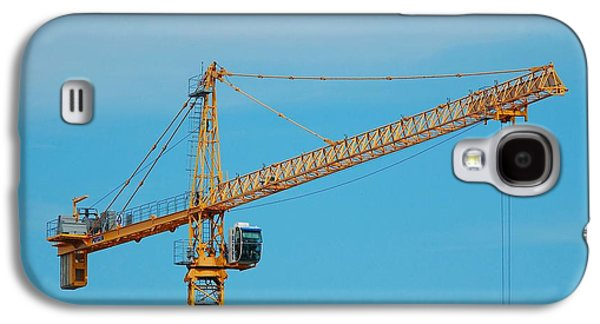 Machinery Galaxy S4 Cases - Industrial Crane Galaxy S4 Case by Paul O