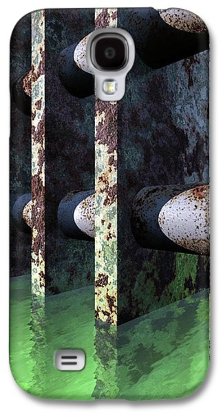 Abstract Digital Galaxy S4 Cases - Industrial Disease Galaxy S4 Case by Richard Rizzo