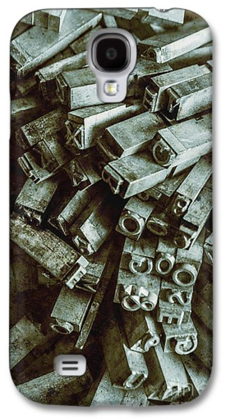 Industrial Letterpress Typeset  Galaxy S4 Case by Jorgo Photography - Wall Art Gallery