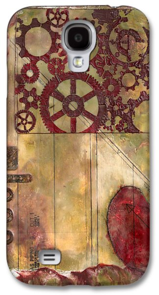 Mechanism Mixed Media Galaxy S4 Cases - Industrial Remorse Encaustic Galaxy S4 Case by Bellesouth Studio