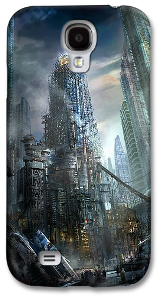 Science Fiction Mixed Media Galaxy S4 Cases - Industrialize Galaxy S4 Case by Philip Straub