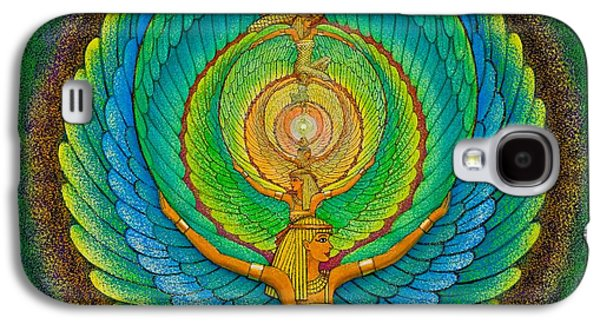 Goddess Paintings Galaxy S4 Cases - Infinite Isis Galaxy S4 Case by Sue Halstenberg