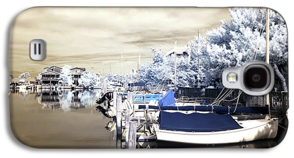Boats At Dock Galaxy S4 Cases - Infrared Boats at LBI Galaxy S4 Case by John Rizzuto