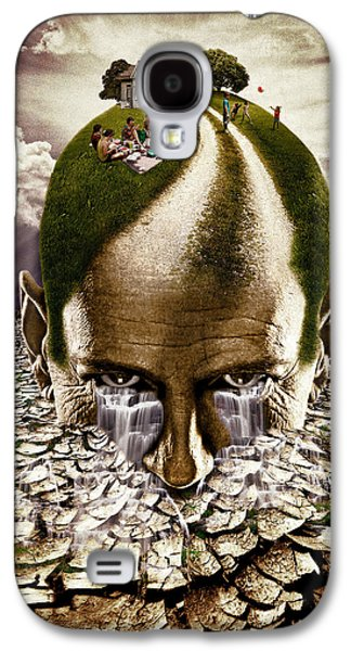 Photo Manipulation Mixed Media Galaxy S4 Cases - Inhabited Head Galaxy S4 Case by Marian Voicu