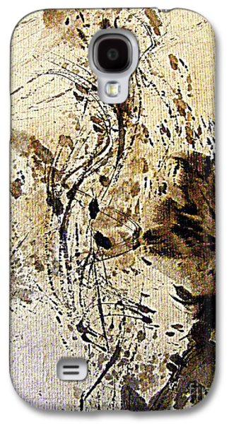 Abstract Forms Galaxy S4 Cases - Ink Takes a Dance Galaxy S4 Case by Nancy Kane Chapman